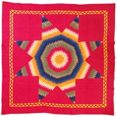 19th C Lebanon County, Pennsylvania Star Quilt