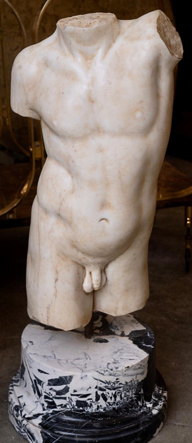 19th Century 19thc Marble Torso For Sale