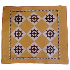 19thc Mariners Compass Wheel Quilt