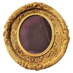 19th Century Metal Gilt Frame Oval Picture Frame