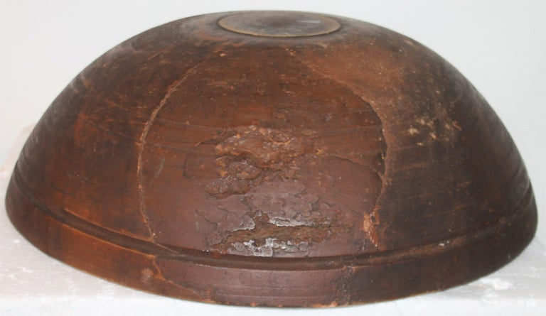 American 19th Century Monumental Bee Hive Butter Bowl For Sale