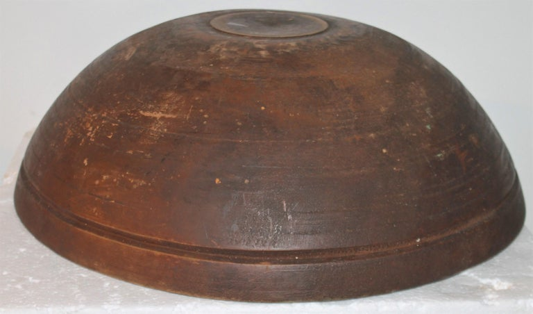 Hand-Crafted 19th Century Monumental Bee Hive Butter Bowl For Sale