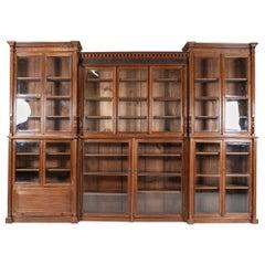 19thc Monumental English Architectural Glazed Oak Bookcase