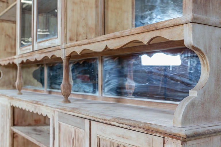 19thC Monumental French Bleached Boulangerie Shop Cabinet For Sale 4