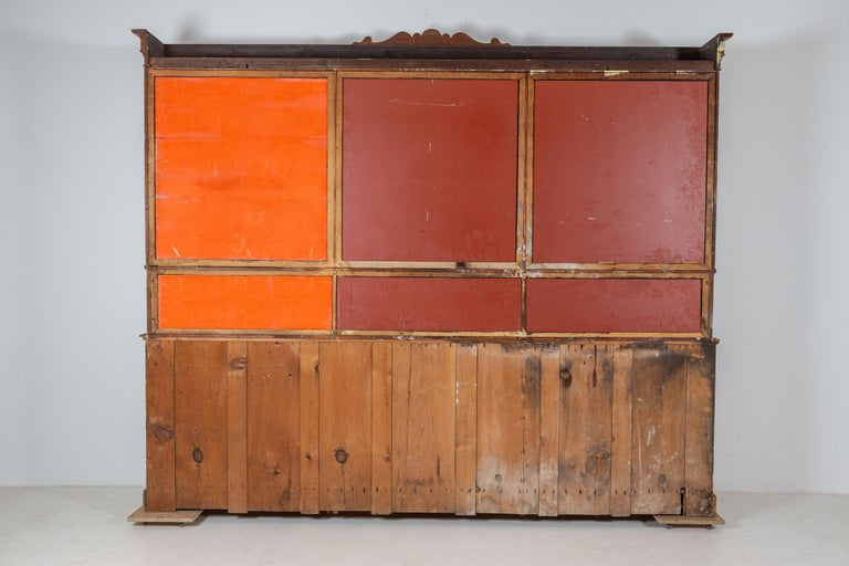 19thC Monumental French Bleached Boulangerie Shop Cabinet For Sale 8