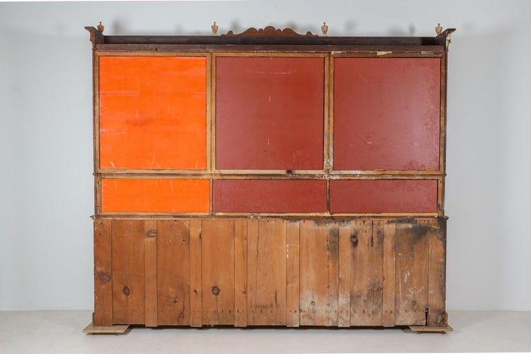 19thC Monumental French Bleached Boulangerie Shop Cabinet For Sale 9