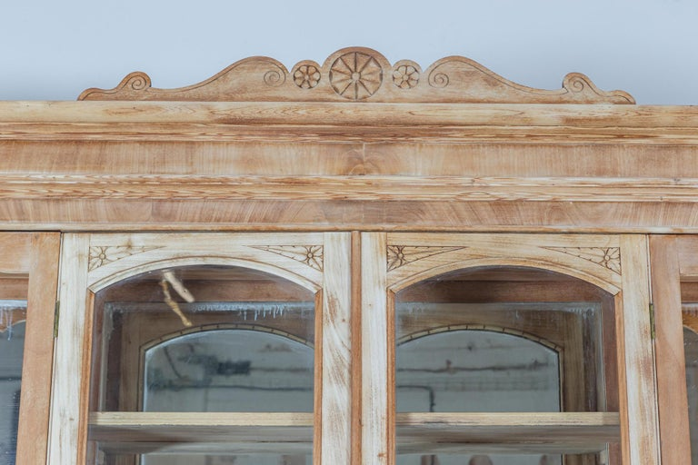 19thC Monumental French Bleached Boulangerie Shop Cabinet For Sale 1