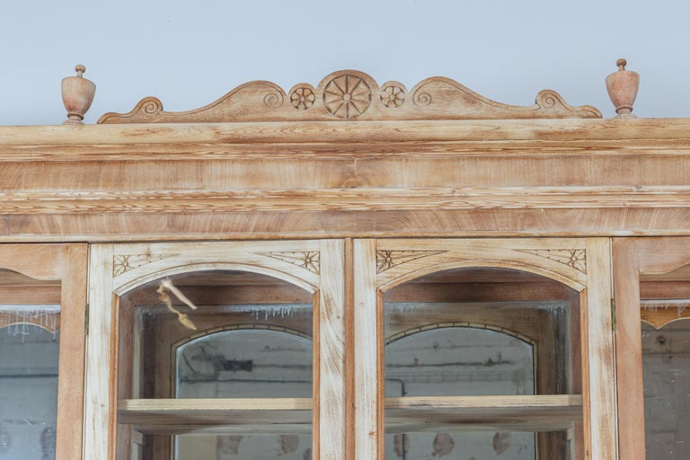 19thC Monumental French Bleached Boulangerie Shop Cabinet For Sale 2