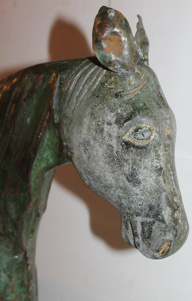 19thc Monumental Harris Horse Weather Vane In Good Condition For Sale In Los Angeles, CA