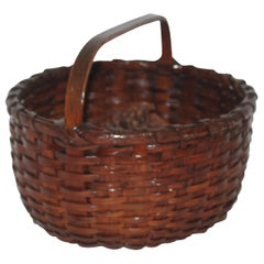 19th Century Natural Basket with Handle