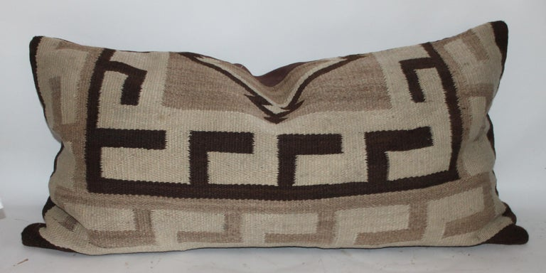 American 19th Century Navajo Indian Weaving Transitional Pillows For Sale