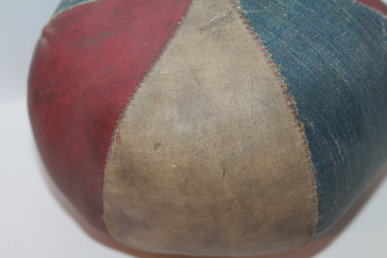 American 19th Century Oil Cloth Juggling or Carnival Balls Collection / 6 Pieces For Sale