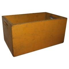 19th Century Original Chrome Yellow Painted Handled Box