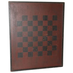 19thc Original Double Sided Game Board