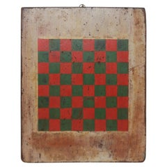 19thc Original Painted Game Board
