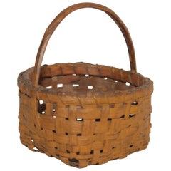 19th Century Original Painted Miniature Basket