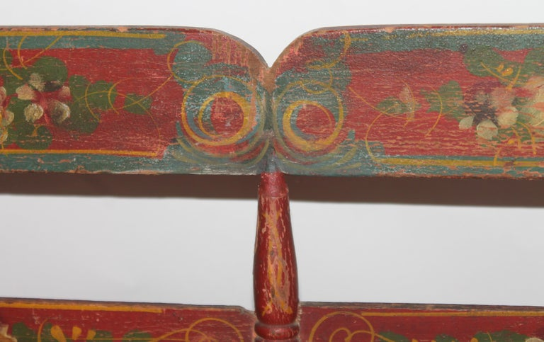19thc Original Painted Miniature Settee From Pennsylvania For Sale 5