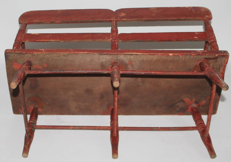 American 19thc Original Painted Miniature Settee From Pennsylvania For Sale
