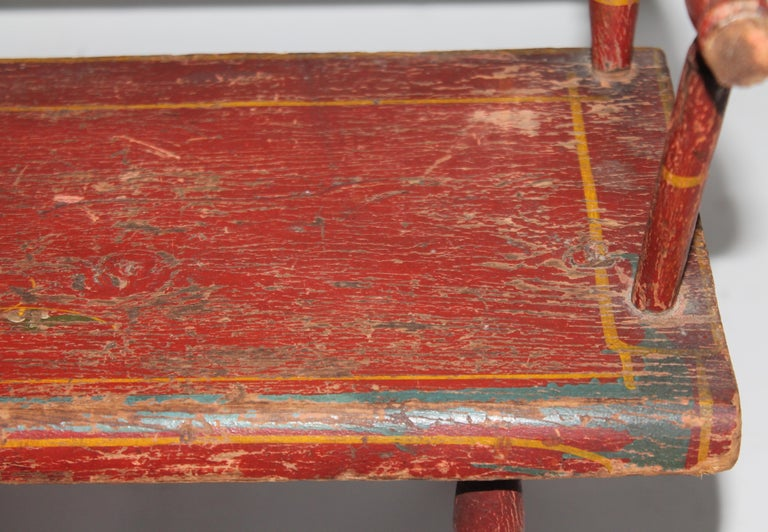 19th Century 19thc Original Painted Miniature Settee From Pennsylvania For Sale
