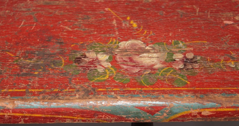 19thc Original Painted Miniature Settee From Pennsylvania For Sale 1
