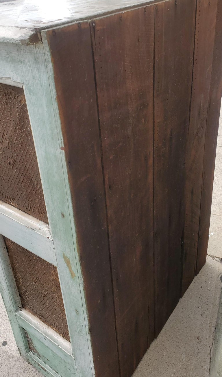19thc Original Painted Southern Tennessee Pie Safe For Sale 2