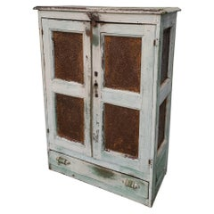 19thc Original Painted Southern Tennessee Pie Safe