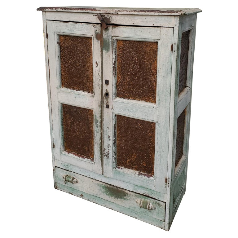 19thc Original Painted Southern Tennessee Pie Safe For Sale