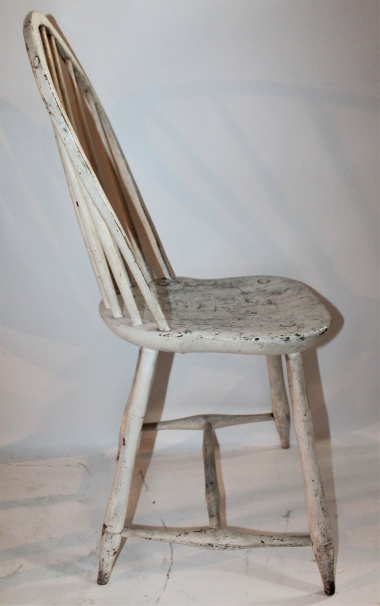 American 19th Century Original Painted Windsor Chairs, Pair For Sale