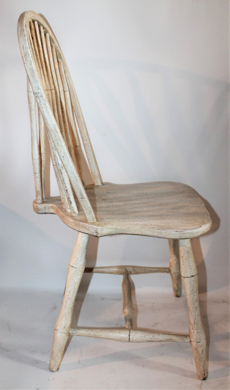 19th Century Original Painted Windsor Chairs, Pair In Good Condition For Sale In Los Angeles, CA