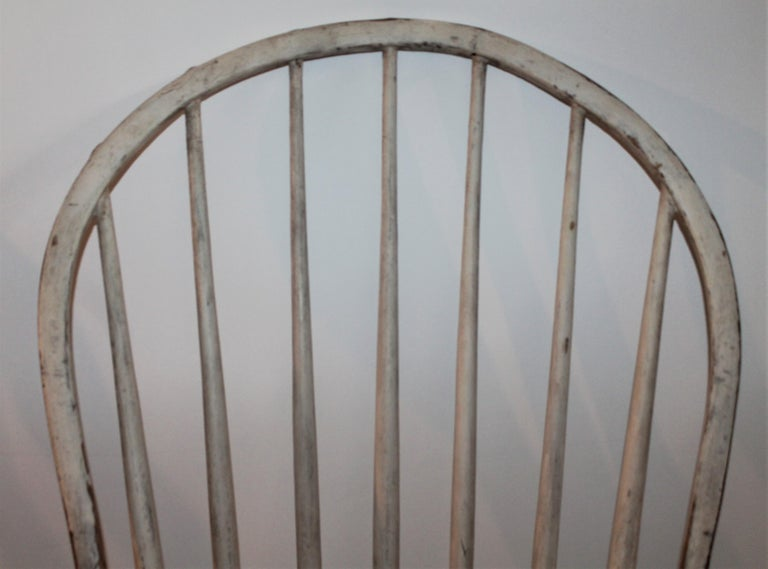 Wood 19th Century Original Painted Windsor Chairs, Pair For Sale