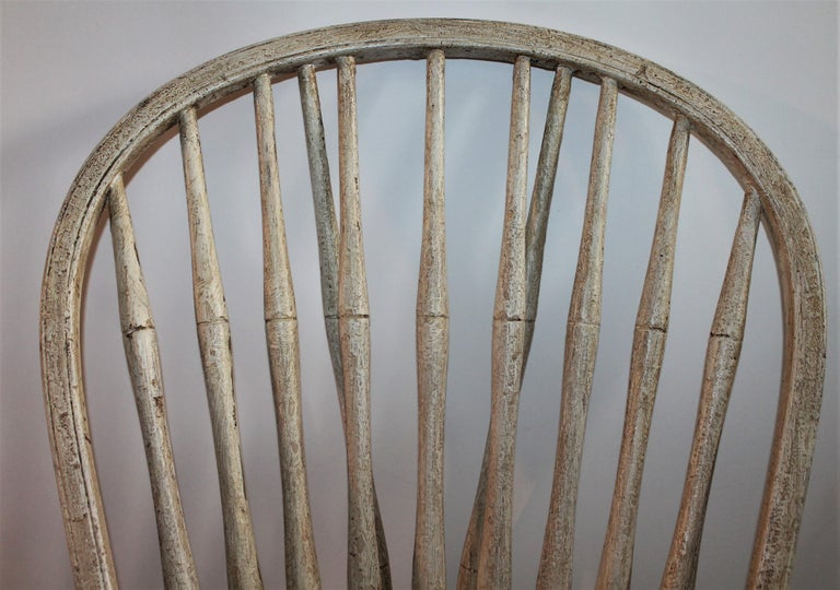 19th Century Original Painted Windsor Chairs, Pair For Sale 1