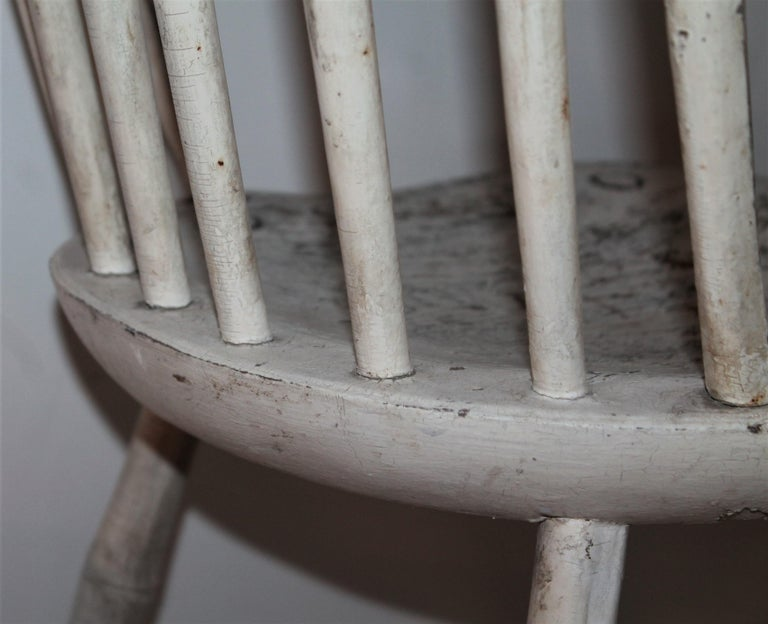 19th Century Original Painted Windsor Chairs, Pair For Sale 2