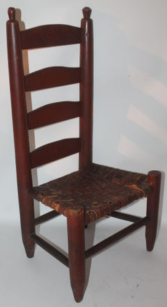 19Thc Original Red Painted Child's Chair