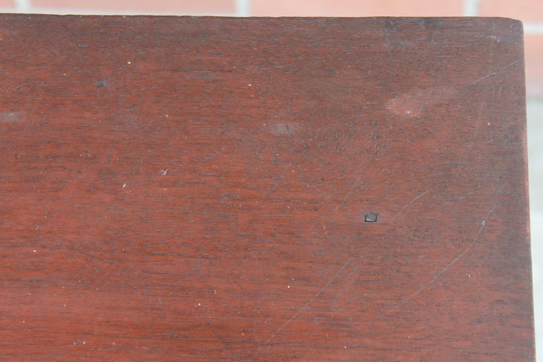 19th Century 19thc Original Red Painted One Drawer Stand For Sale