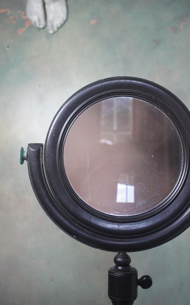 19th Century Pair of Optical Experimental Scientific Mirrors Concave and Convex For Sale 5