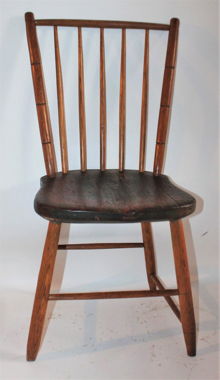 Country 19th Century Pennsylvania Bird Cage Windsor Chair For Sale