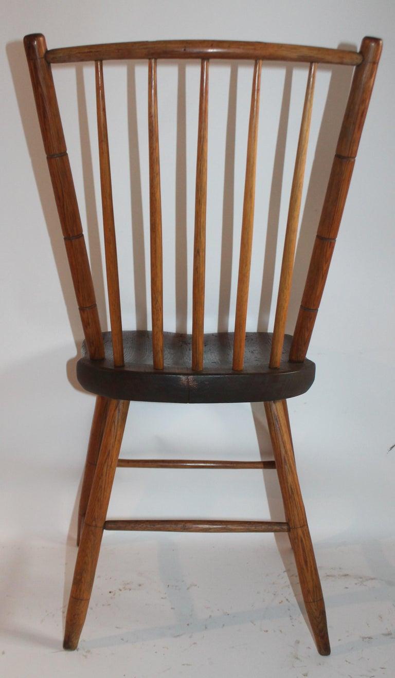 American 19th Century Pennsylvania Bird Cage Windsor Chair For Sale