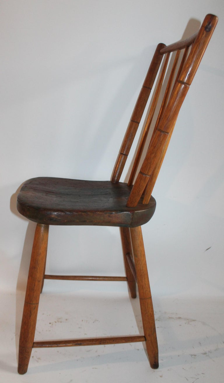 19th Century Pennsylvania Bird Cage Windsor Chair In Good Condition For Sale In Los Angeles, CA