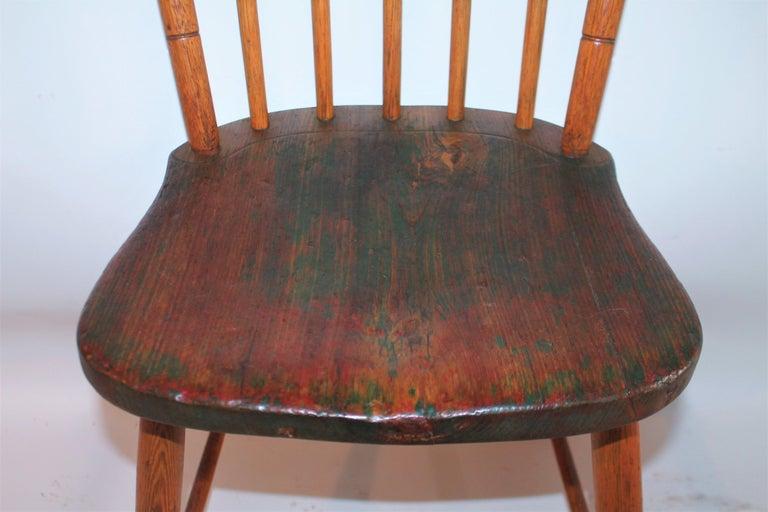 Wood 19th Century Pennsylvania Bird Cage Windsor Chair For Sale