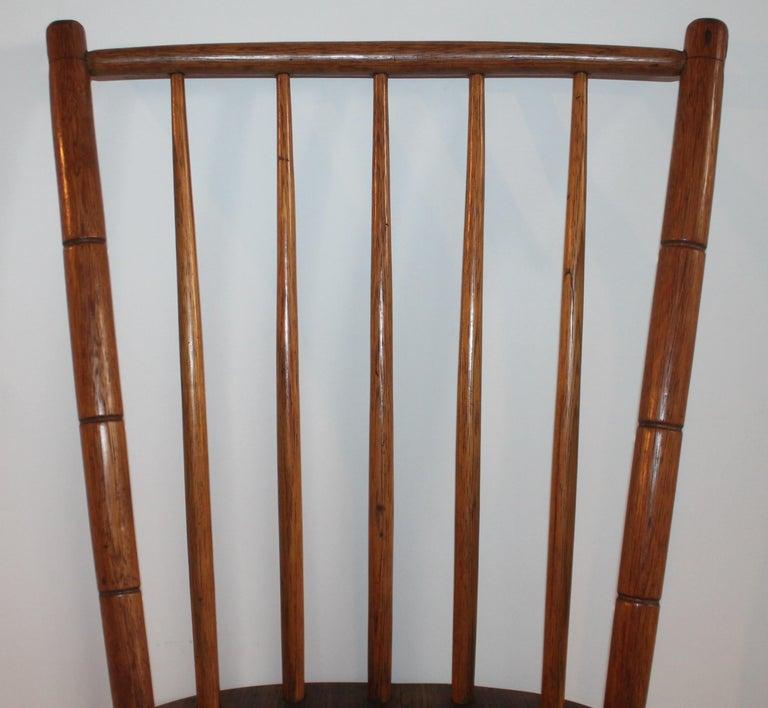 19th Century Pennsylvania Bird Cage Windsor Chair For Sale 1