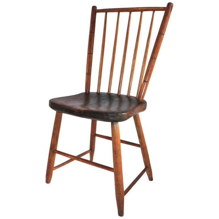19th Century Pennsylvania Bird Cage Windsor Chair For Sale
