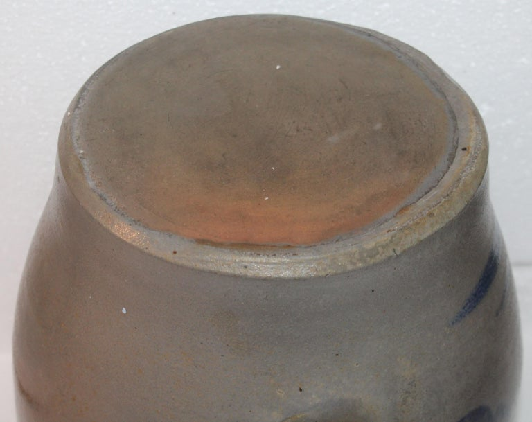 Hand-Crafted 19th Century Pennsylvania Decorated Stone Ware Crock For Sale