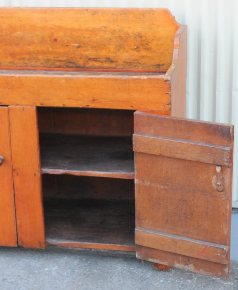 Adirondack 19th Century Pennsylvania Two-Door Dry Sink For Sale
