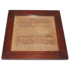 19th Century Philadelphia Sampler in Antique  Frame -Dated 1831