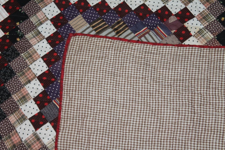 19Thc Postage Stamp Trip Around The World Quilt For Sale 1