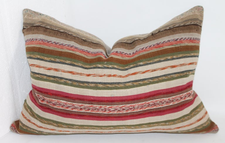 Adirondack 19th Century Rag Rug Country Colors Pillows, 2 For Sale