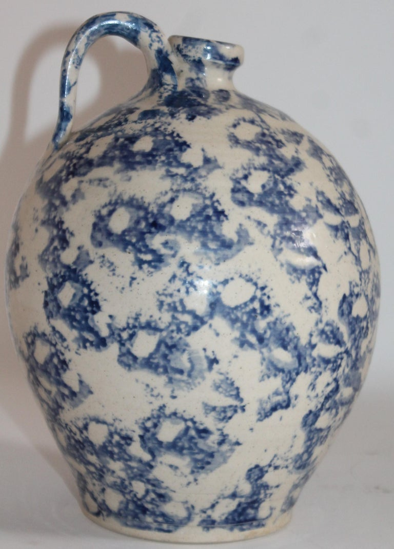 This jug we believe was handmade in the south. It resembles all the other folk pottery jugs. The sponge decoration is fantastic and the jug is in pristine condition.