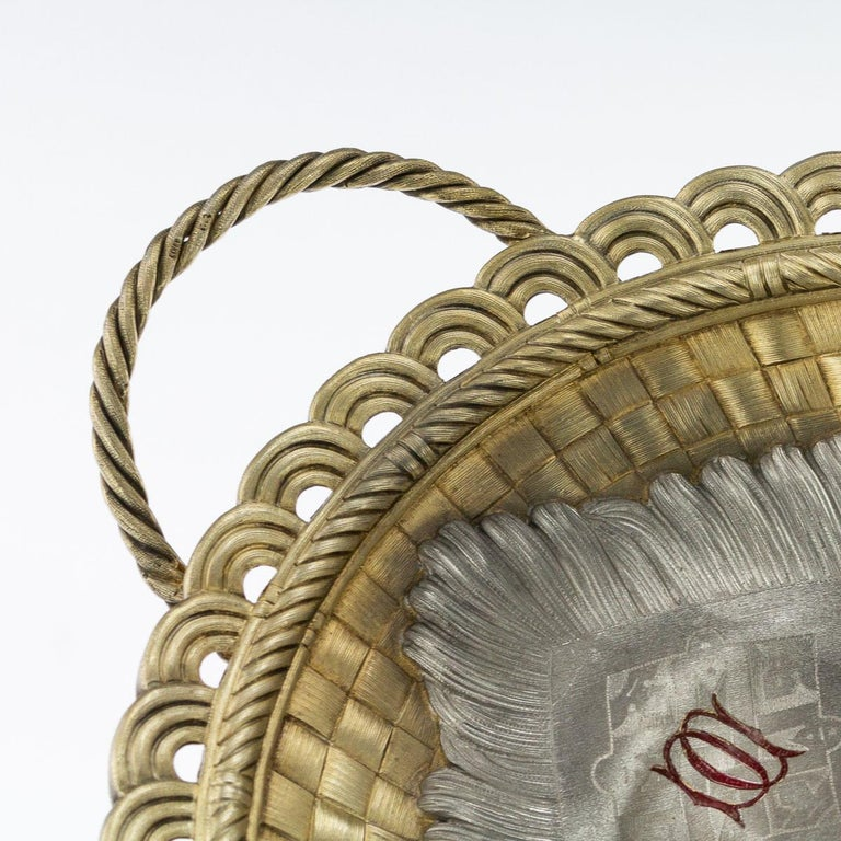 19thc Russian Solid Silver Trompe L'oeil Baskets by Pavel Ovchinnikov C.1893 For Sale 7