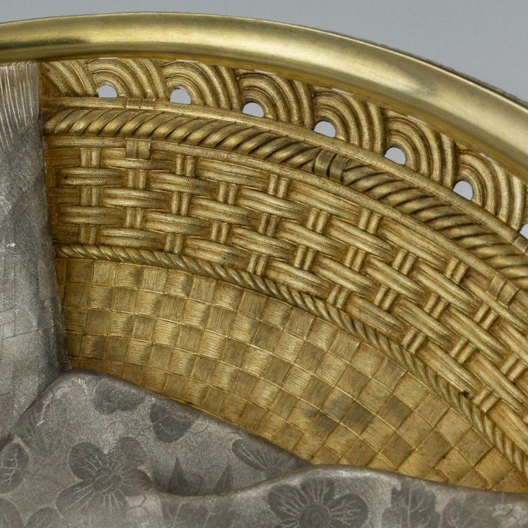 19thc Russian Solid Silver Trompe L'oeil Baskets by Pavel Ovchinnikov C.1893 For Sale 11