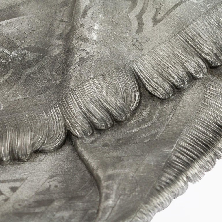 19thc Russian Solid Silver Trompe L'oeil Baskets by Pavel Ovchinnikov C.1893 For Sale 5